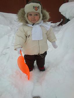 Работа с названием зимний костюм для мальчика 1,5 лет