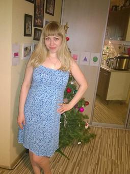 Работа с названием Домашнее платье