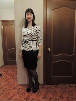 Работа с названием Классическая черная юбка
