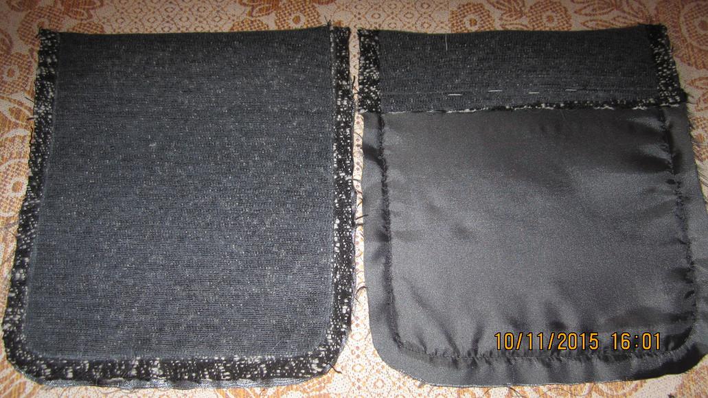 Как выполнить накладные карманы наподкладке