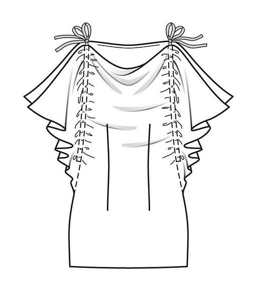 Модное ателье отBurda: нарядный топ