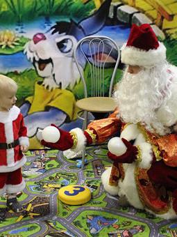 Работа с названием Санта в молодости)