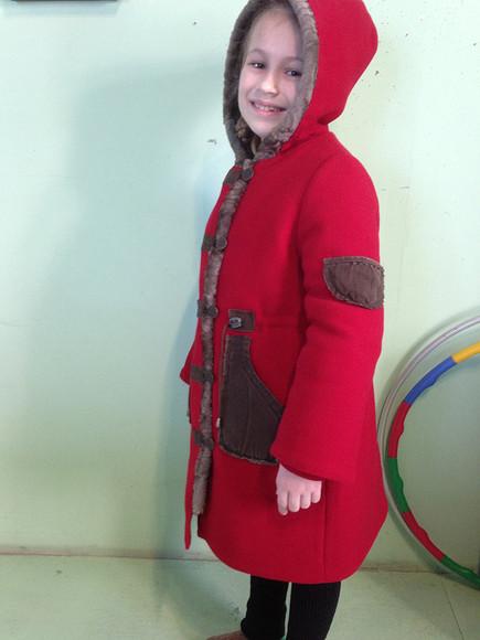 Переделка старой детской шубки вновое пальто намеху