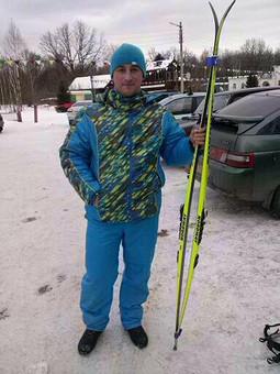 Работа с названием Мужской лыжный костюм
