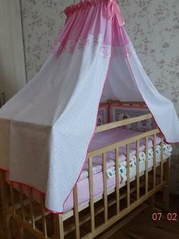 Работа с названием Бортики и балдахин в детскую кроватку