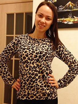 Работа с названием Леопардовый свитшот !