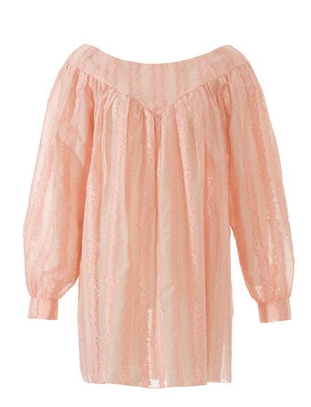 Широкая блузка скокеткой
