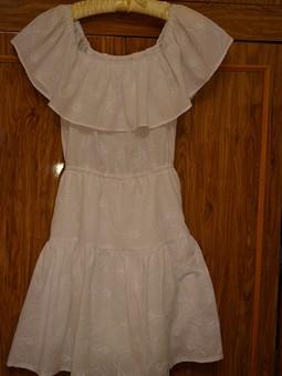 Работа с названием Платье с оборкой