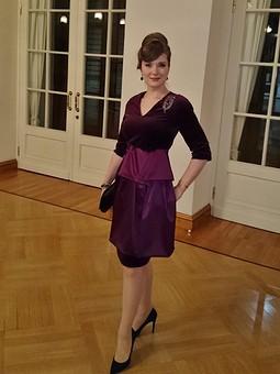 Работа с названием Театральное платье с кушаком