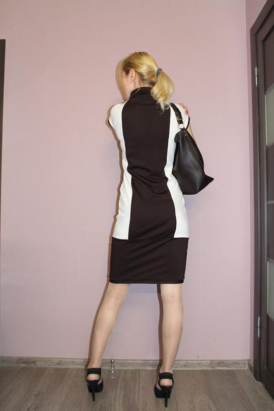 трикотажное платье «контрасты» от uolsigalevs