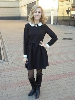 Работа с названием платье школьниццы