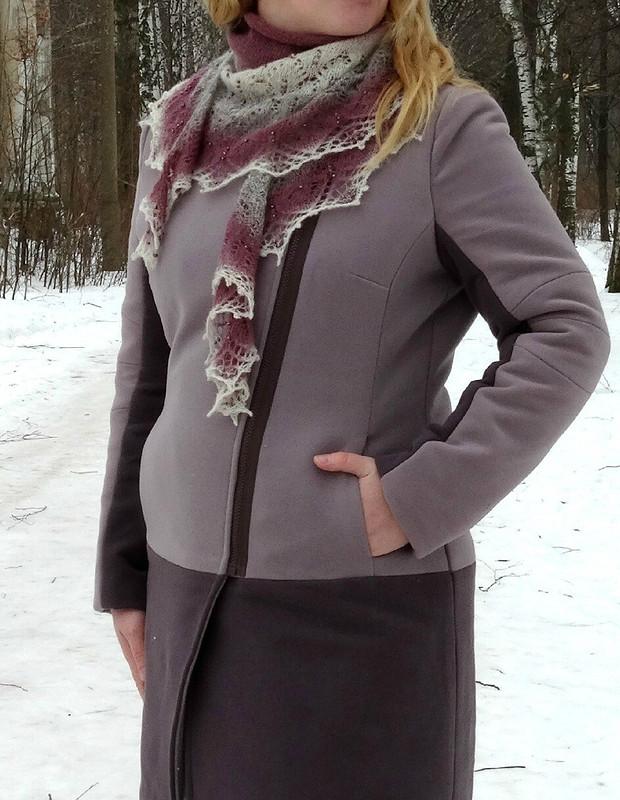 Пальто + шаль от Pionella