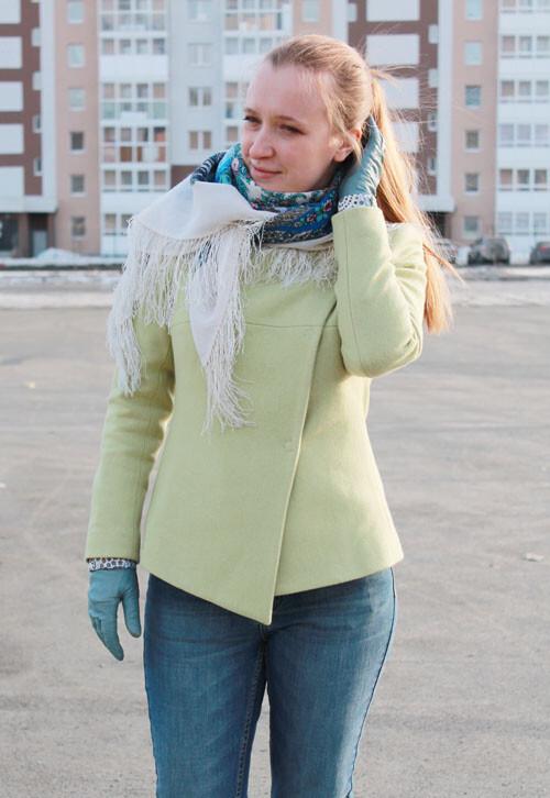 Яблочный жакет-пальто от АнастасияХ