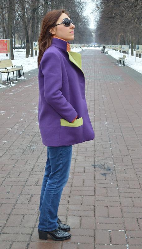 Весенний фиолетовый жакет