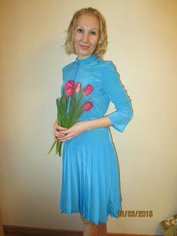 Работа с названием Платье-плиссе