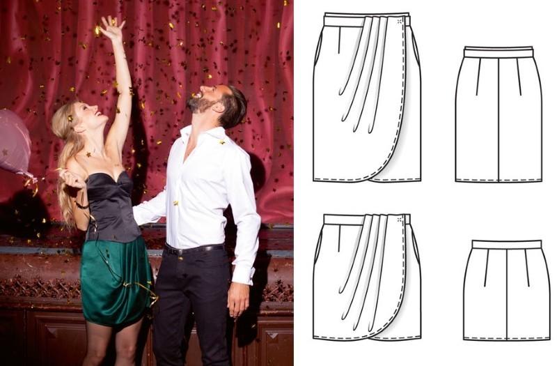 Выкройки юбок сзапахом со скидкой 50%!