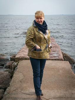 Работа с названием Жакет-перевертыш…или курточка Буратино