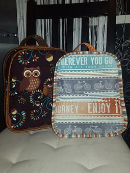 Работа с названием Снова я с рюкзачками