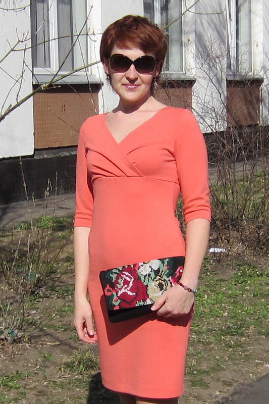 Платье изджерси, модель 103 В, Burda 5/2009