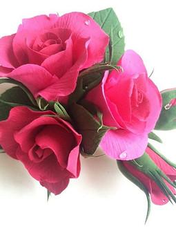 Работа с названием Роза  на жакет
