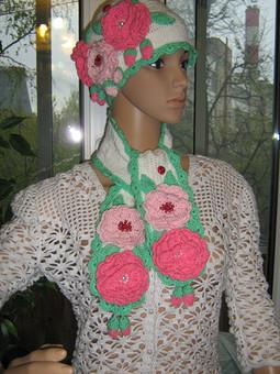Работа с названием Детский комплект с розами