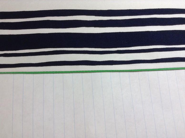 Обработка низа изделия косой бейкой