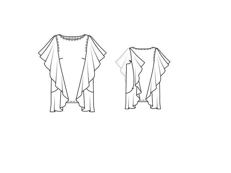 Как сшить блузку изшифона