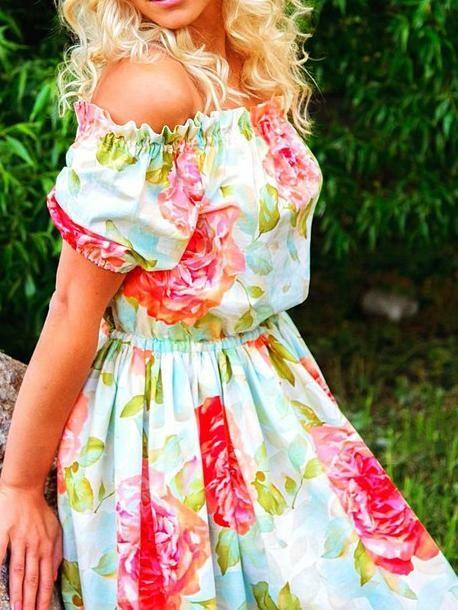 Платье-крестьянка от margo29safi