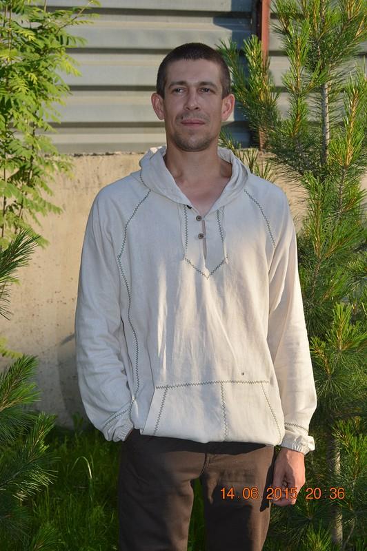 Мужская льняная рубашка от lisenokdocha2013