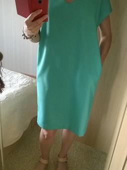 Работа с названием Удобное зеленое платье