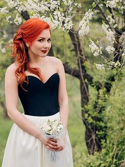 Работа с названием Свадебное Pin up  платье