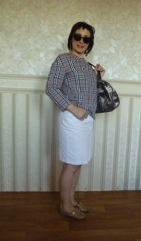 Блузка типа Burberry