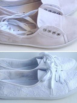 Работа с названием Переделка обуви: реанимация кед