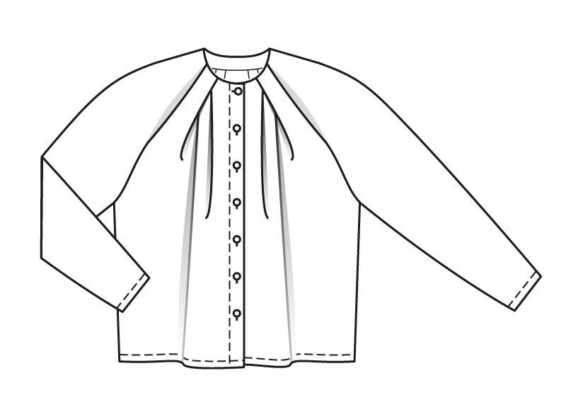 Шьем блузу со складками