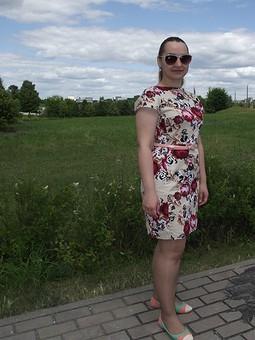 Работа с названием Хлопковое платье в цветочек