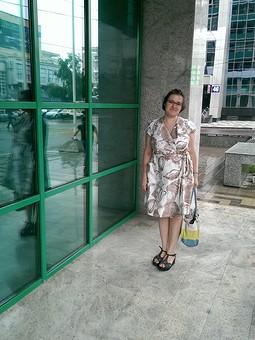 Работа с названием Платье-халат на пышечку