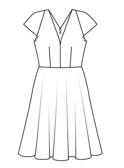 Как сшить винтажное платье сглубоким декольте