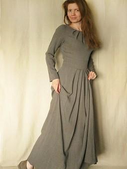 Работа с названием Весенне - осеннее длинное платье (оно же пара для забавных ботиночек :)