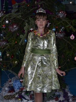 Работа с названием Новогодний костюм Матери Природы
