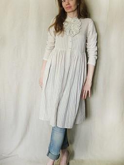 Работа с названием Платье-рубашка. Попытка в стиле бохо :)