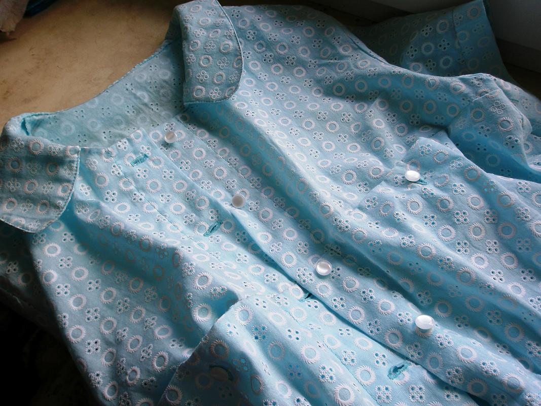 Голубая блузочка