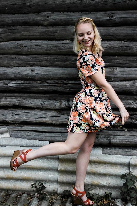 Цветочное платье от valenti