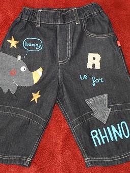 Работа с названием Little Rhino goes rrrrr -)