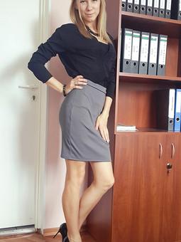 Работа с названием Трикотажная юбка