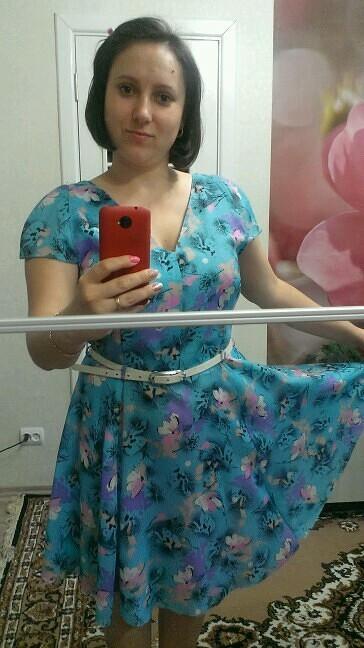 Платье вдухе 50-х