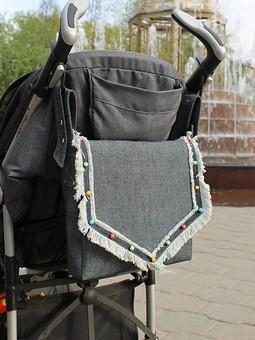 Работа с названием Сумка на коляску + кармашек для хозяйственного мальчика
