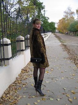 Работа с названием Леопардовое пальто