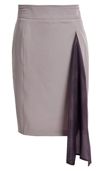 Декорируем юбку втачными клиньями