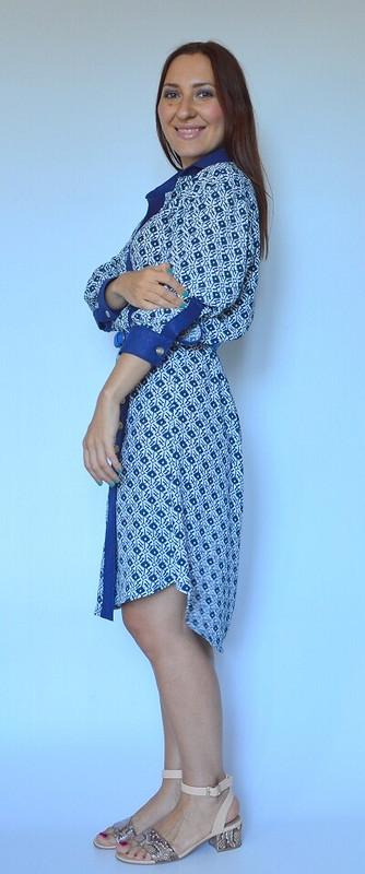 Платье-рубашка сзапахом
