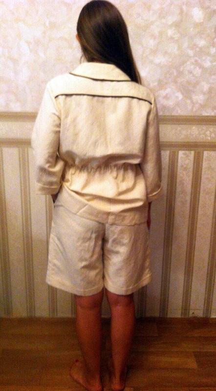 Льняной костюм вполоску